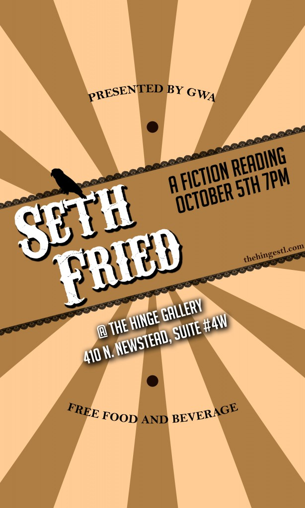 Seth Fried Fiction Reading Poster