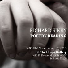 Richard Siken Poetry Reading Poster
