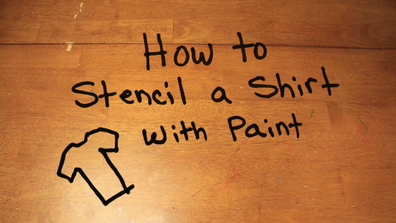 How to Stencil a Shirt with Paint